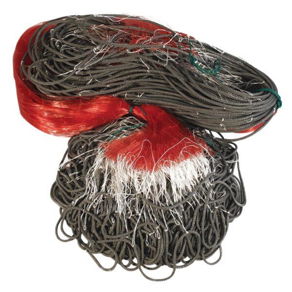 käsirakendatud kalavõrk ujuvnööriga punane